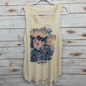 Lucky Brand Casual Sleeveless Floral Tank Top